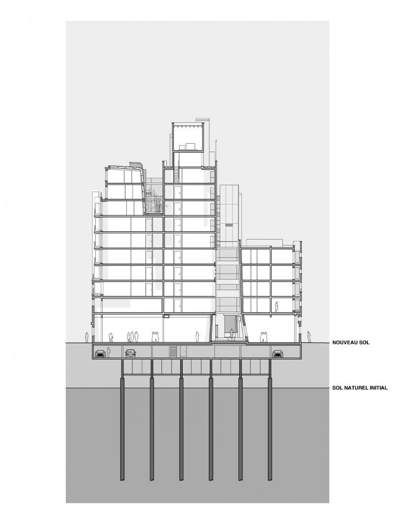 frederic borel architecte – ZAC Masséna LOGEMENTS / LOCAUX D'ACTIVITÉS
