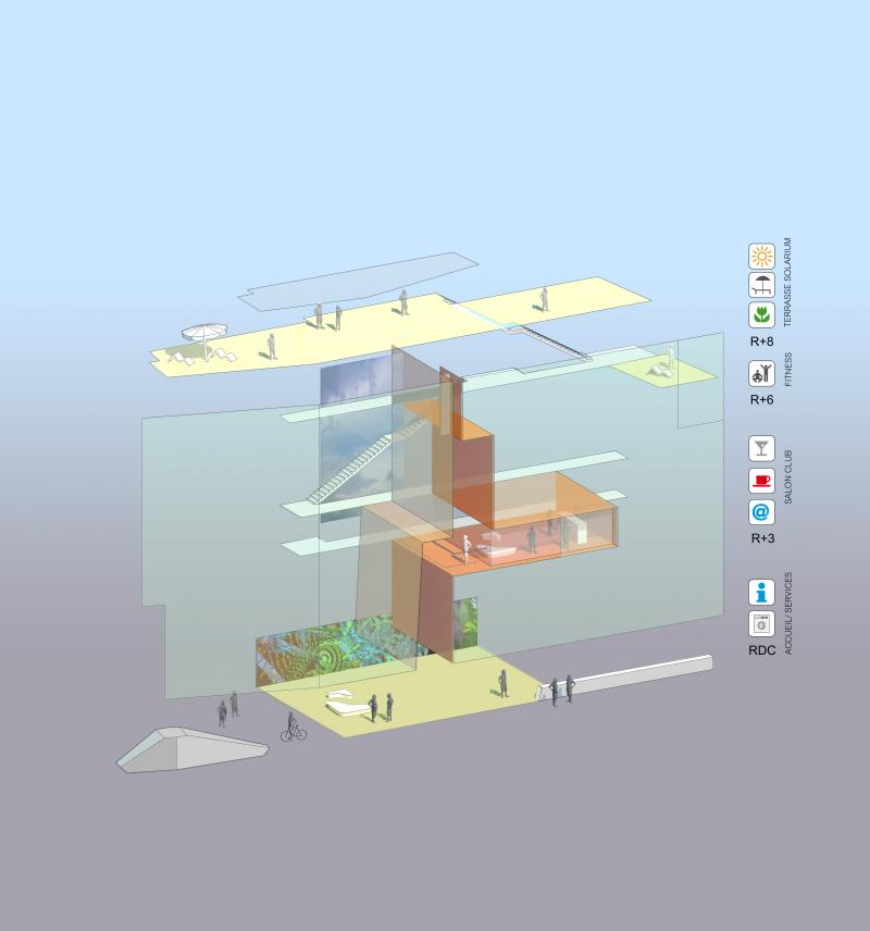frederic borel architecte - rue bach diagramme