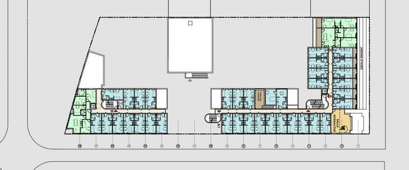 étudiant logements frederic borel plan