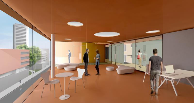 frederic borel architecte - salle commune rue bach paris