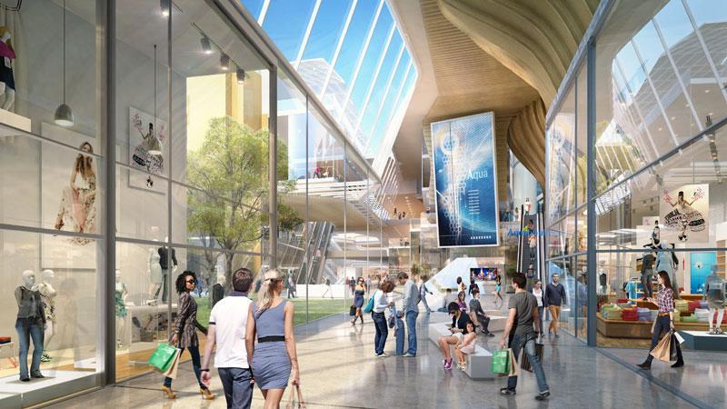 frederic borel architecte - Aquaboulevard parvis square atrium