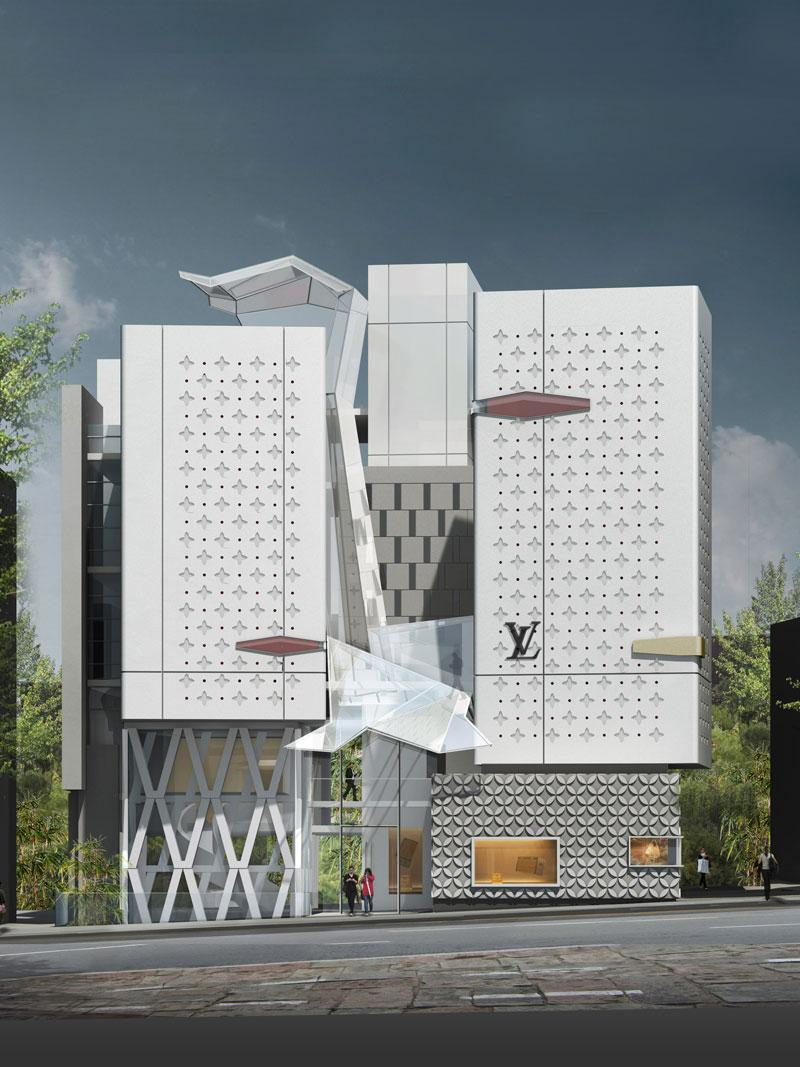 frederic borel architect - Seoul louis vuitton maison