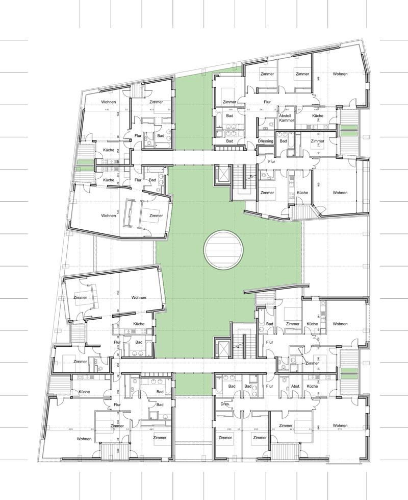frederic borel architecte - 200 logements bureaux activités - Hambourg