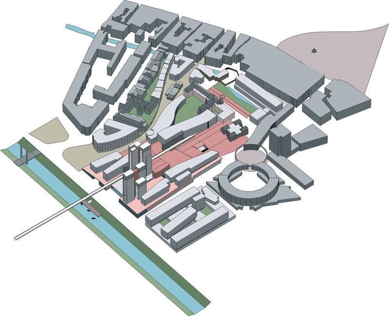 borel architecte - Nouveaux quartiers de ville : équipement publics, logements, bureaux, commerces