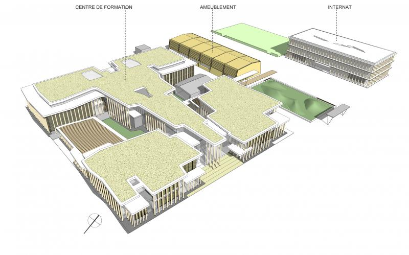 frederic borel architecte - internat, salles de classe